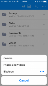 Select Photos and Videos and Photos in the Amazon Drive iOS app